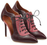 Malone Souliers Suede and Leather Lace-Up Pumps with Cut-Outs