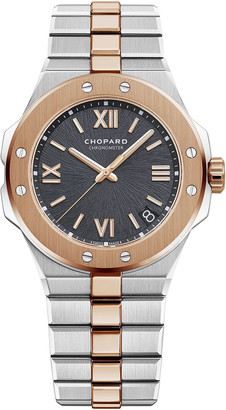 Chopard 41mm Two-Tone Watch w/ Bracelet Strap, Gray