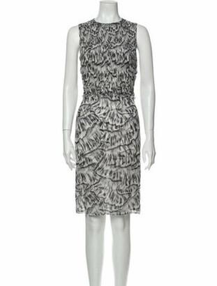 Bottega Veneta Silk Knee-Length Dress w/ Tags Grey