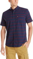Levi's Men's Dink Short-Sleeve Striped Oxford Shirt