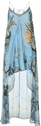 Camilla Fairy Fountain-print silk dress