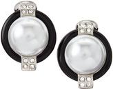 Kenneth Jay Lane Mabe Pearl Bead Clip Earrings