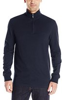 Dockers Pique 1/4 Zip Long Sleeve Cotton Shirt