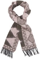 Charlotte Russe Tribal Fringed Oblong Scarf