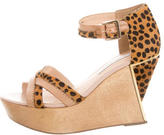 Diane von Furstenberg Alara Ponyhair Wedge Sandals