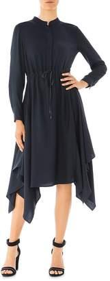 Peserico Twill Gauze Drawstring Dress