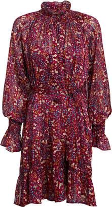 Sabina Musayev Cherry Georgette Mini Dress