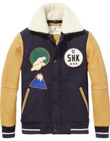 Scotch & Soda Mixed Varsity Jacket