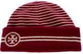 Tory Burch Rib Knit Logo Beanie
