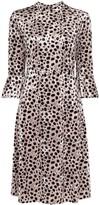 HVN Ashley leopard print midi dress