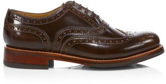 Grenson Stanley Lace-Up Leather Wingtip Brogues