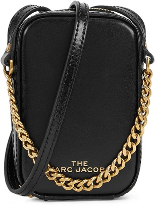 Marc Jacobs The Mini Vanity black leather cross-body bag