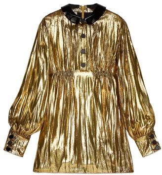 Gucci Short laminated velvet dress