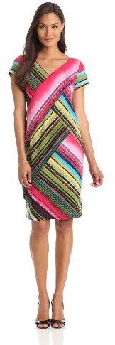 Tiana B Women's Abstract Print Short Sleeve Dress