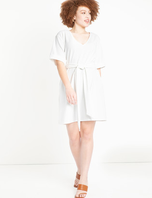 ELOQUII Cuffed Dress with Belt