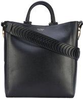 Salvatore Ferragamo boxy tote - women - Cotton/Calf Leather/Leather - One Size