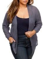 Lucky Brand Plus Versatile Open Front Cardigan
