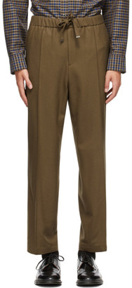 Solid Homme Brown Wide Trousers