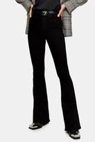 Topshop Pure Black Jamie Flare Skinny Jeans
