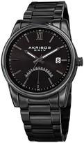 Akribos XXIV Men's Date & 24 Hour Retrograde Indicator Stainless Steel Bracelet Watch