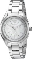 Emporio Armani Women's 'Valeria' Quartz Stainless Steel Casual Watch, Color:-Toned (Model: AR11030)