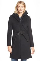 Soia & Kyo Women's 'Arya' Hooded Wool Blend Coat With Belt