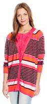 Juicy Couture Black Label Women's Berenson Stripe Cardigan