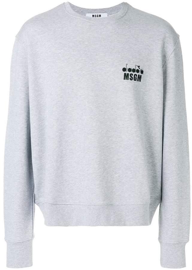 MSGM X Diadora branded sweatshirt