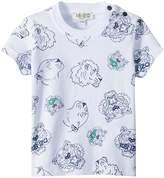 Kenzo Tee Shirt Tiger Print Boy's Clothing
