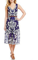 Daniel Cremieux Teagan V-Neck Printed Dress