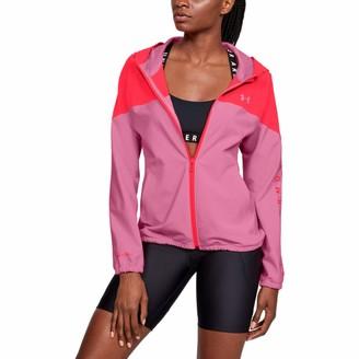 Under Armour Women's Woven Hoodie Branded Full Zip Zipper sweatshirt