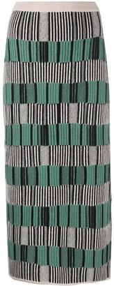 Christian Wijnants Stripe Pencil Knit Skirt