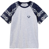 True Religion Raglan Sleeve Logo T-Shirt (Big Boys)