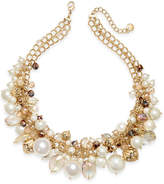 Charter Club Gold-Tone Multi-Bead Statement Necklace, Created for Macy's