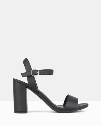 betts Women's Black Strappy sandals - Karly Block Heel Sandals - Size One Size, 5 at The Iconic