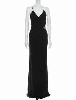 Just Cavalli V-Neck Long Dress Black