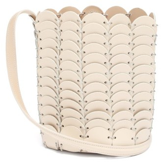 Paco Rabanne Pacoio Leather-chainmail Bucket Bag - Beige