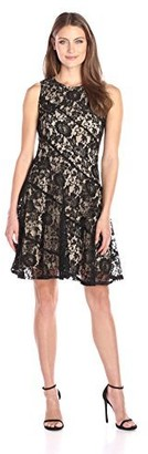Julian Taylor Women's Sleeveless All Over Lace Dress