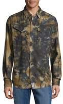 Cult of Individuality Clint Cotton Button-Down Denim Shirt