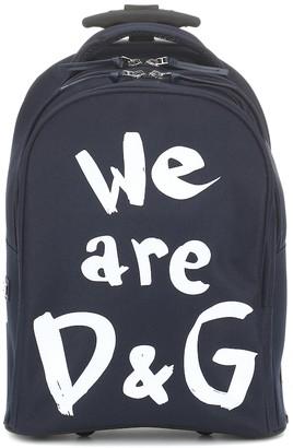 Dolce & Gabbana Kids Logo trolley suitcase