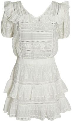 LoveShackFancy Sorelle Embroidered Mini Dress