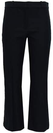 Derek Lam 10 Crosby Broderie Anglaise-trimmed Stretch-cotton Kick-flare Pants