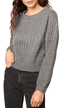 BB Dakota x Steve Madden If You Fancy Embellished Fringed Sweater