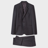 Paul Smith Men's Tailored-Fit Black Pin-Dot Wool Evening Suit