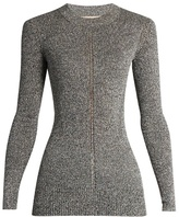 Christopher Kane Long-sleeved metallic sweater
