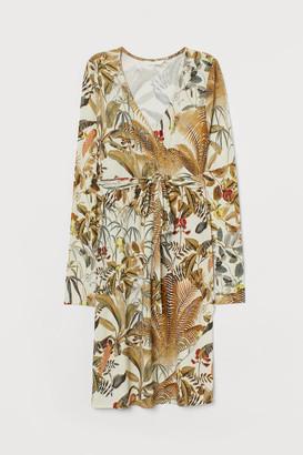 H&M MAMA Wrap Dress - Beige