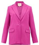 Roksanda Antalya Single-breasted Wool-blend Blazer - Womens - Dark Pink