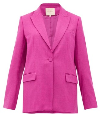 Roksanda Antalya Single-breasted Wool-blend Blazer - Dark Pink
