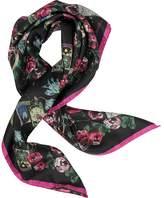 Roberto Cavalli Floral Printed Silk Square Scarf