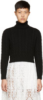 Miu Miu Black Cropped Turtleneck